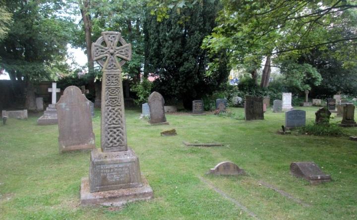 A Celtic cross in Birmingham, England