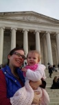 Bonnie at the Jefferson Memorial