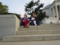 Resting at the Jefferson Memorial