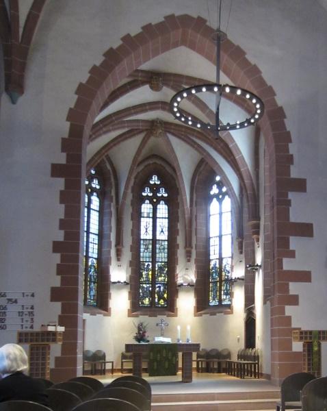 Hymn numbers displayed at a German church